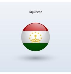 Tajikistan round flag vector image