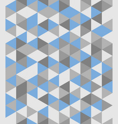 Tile background blue and grey triangle pattern vector