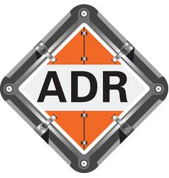 Transportation dangerous goods sign vector