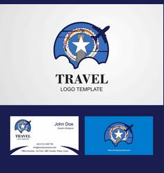 Travel northern mariana islands flag logo and vector