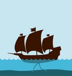 walking ship vector image