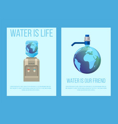 water earth globe save concept vector image