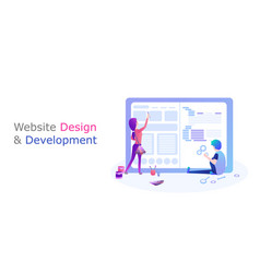Web design and development vector