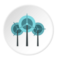wind turbine icon circle vector image