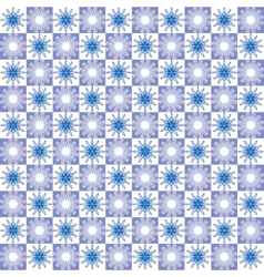 Winter abstract geometric seamless pattern vector image
