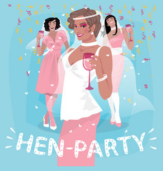 Women in pink welcome to bachelorette party vector