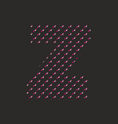 Z dotted alphabet letter isolated on black vector