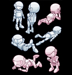 astronauts vector image