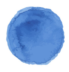 bright dark blue watercolor painted stain vector image vector image