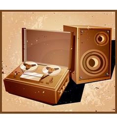 retro reel tape recorder vector image