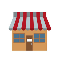 store market shop exterior window door vector image vector image