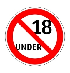 Sign no 18 under 1104 vector image