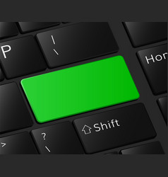 green button on keyboard macro vector image vector image
