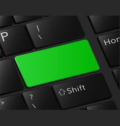 green button on keyboard macro vector image