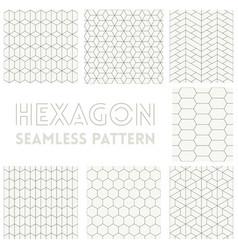 thin line of hexagon vector image