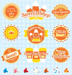 Candy Corn Labels and Icons vector image vector image