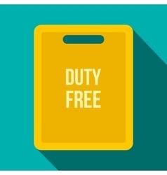 Duty free bag flat icon vector image