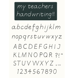 Handwriting alphabet vector image vector image
