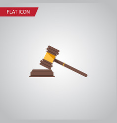 Isolated crime flat icon court element can vector