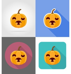 pumpkins for halloween flat icons 11 vector image vector image