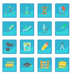 science education icon blue app vector image