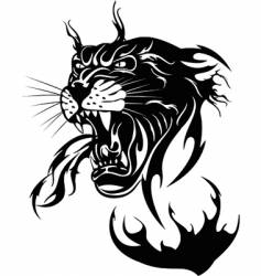 the black panther vector image vector image
