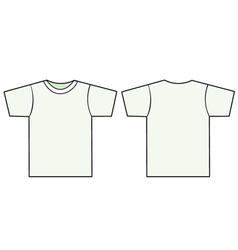 unisex tshirt template vector image vector image
