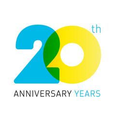 20 anniversary years logo vector