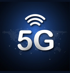 5g cellular mobile communication abstract vector
