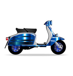 60s motor scooter vector