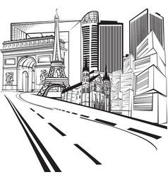 a trip to paris vector image