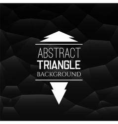 Abstract black triangle pattern vector