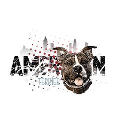 American staffordshire terrier banner vector