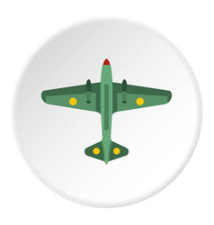 army fighter icon circle vector image