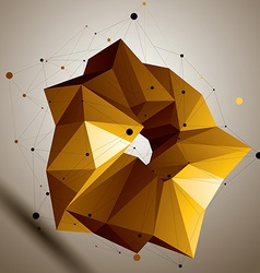 Asymmetric 3D abstract bright object colorful vector image