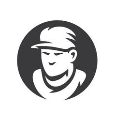 baseball player silhouette sign vector image