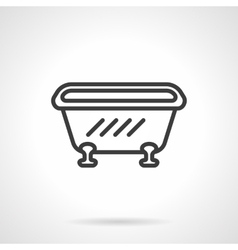 Bathtub black line design icon vector image