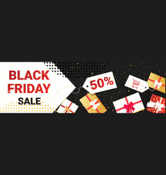 big sale black friday flyer special offer promo vector image