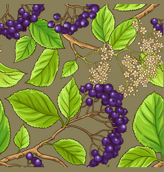 Black rowan pattern vector