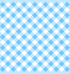 Blue gingham pattern vector