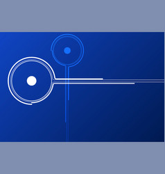 blue technology node background vector image