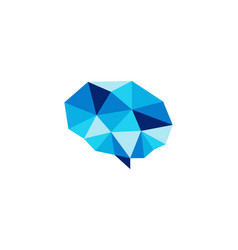 brain diamond logo icon design vector image