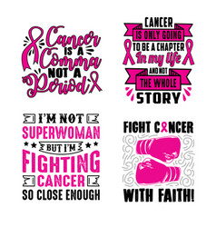Breast Cancer Sayings Vector Images 94