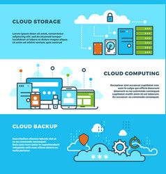 Cloud computing solution data storage business vector