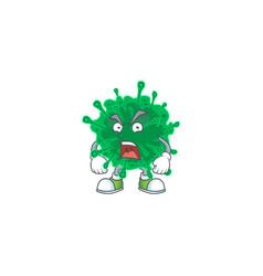 Coronavirus pneumonia mascot showing angry face vector