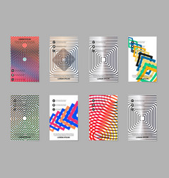 Creative abstract trend brochure set vector
