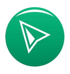 cursor modern icon green vector image