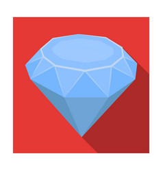 diamond icon in flat style isolated on white vector image