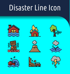 disaster color icon vector image