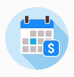 Dollar calendar day icon vector